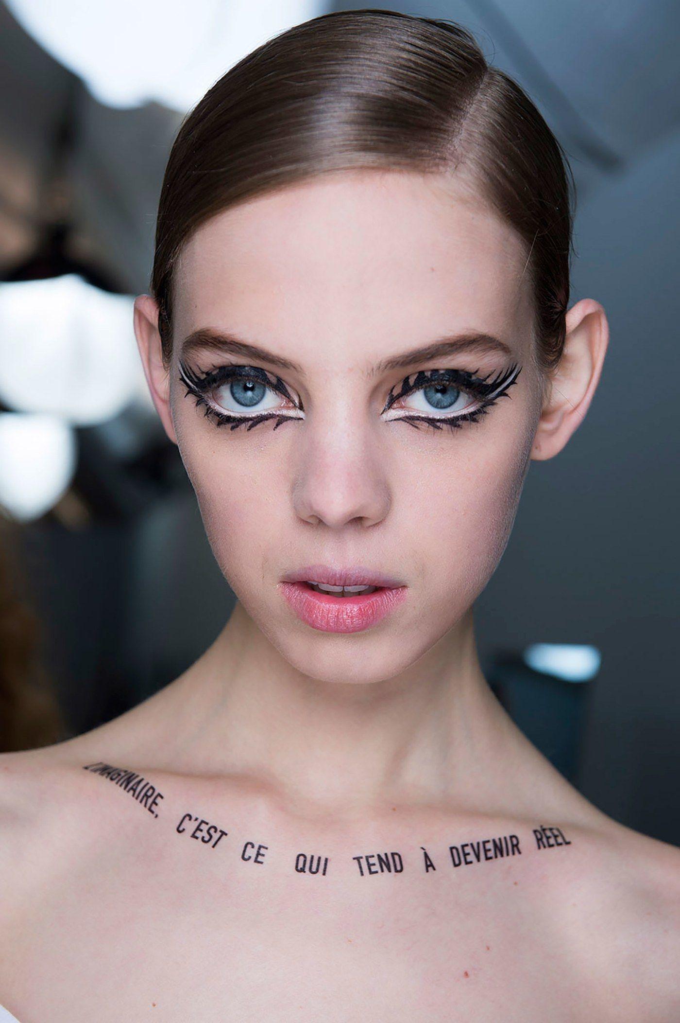 Diors runway masksand the breathtaking makeup beneath