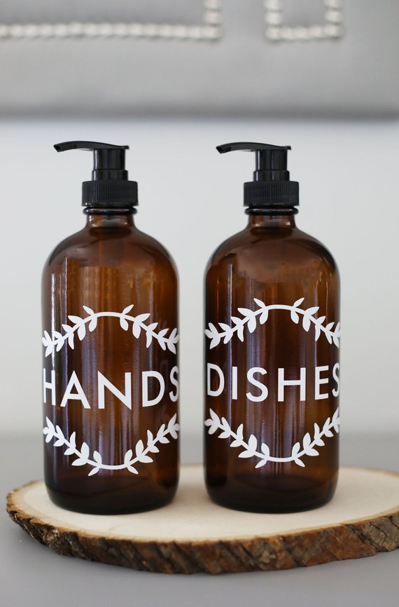 kitchen hand soap light fixture for farmhouse vintage dish dispenser pair amber black se