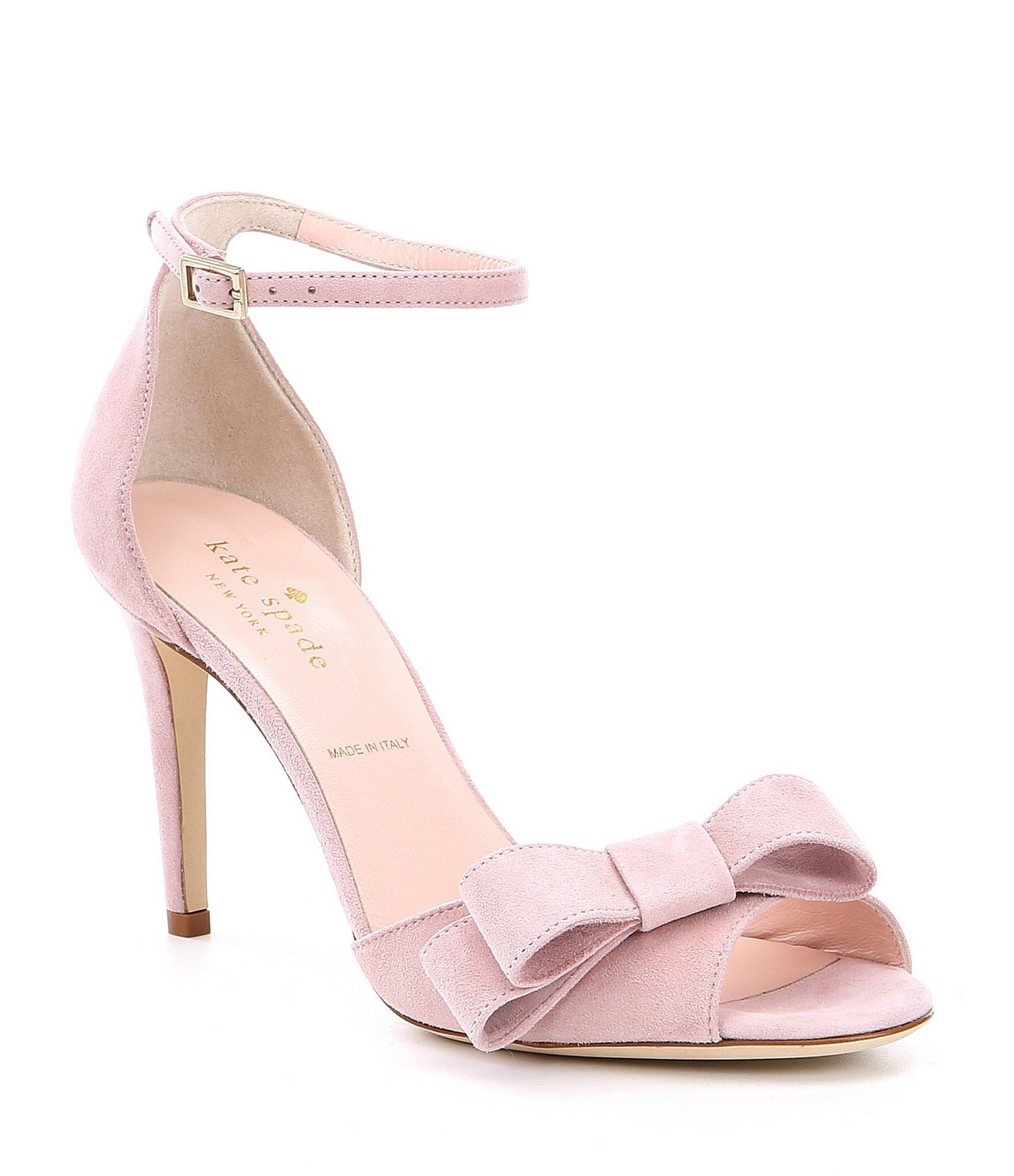 90e3993d2736 kate spade new york Ismay Bow Detail Suede Dress Sandals