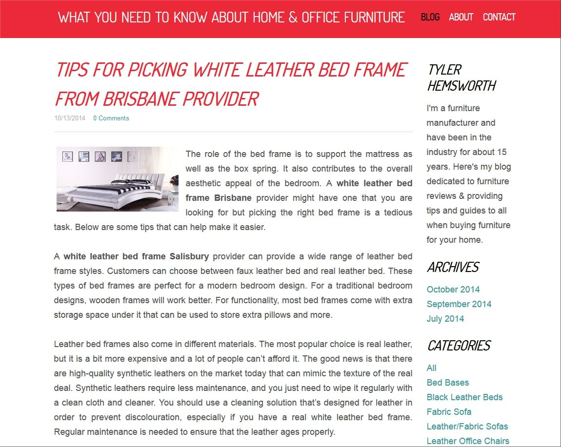 http://homeandofficefurniture.weebly.com/blog/tips-for-picking-white-leather-bed-frame-from-brisbane-provider White Leather Bed Frame Brisbane Provider Here are some tips on selecting a white leather bed frame.