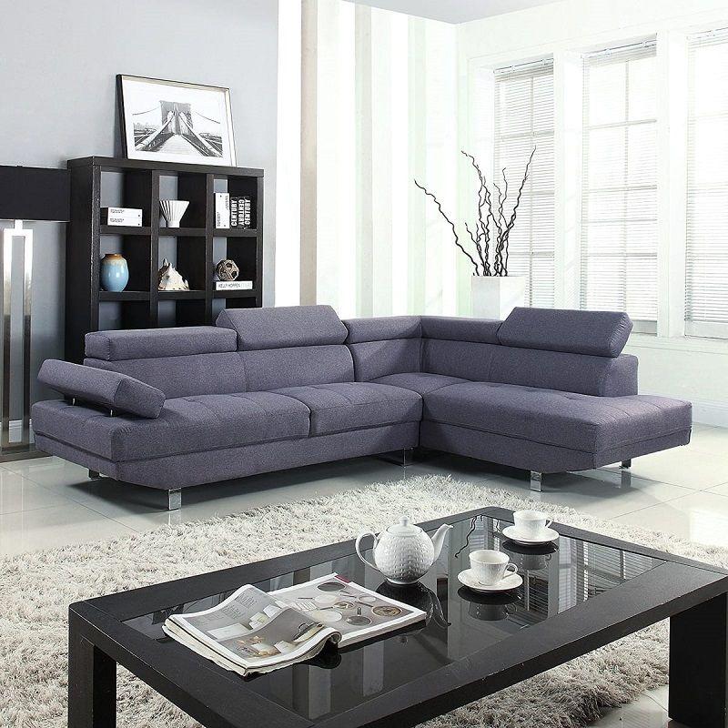 Canapé angle droit tissu avec téti¨res HAWAI
