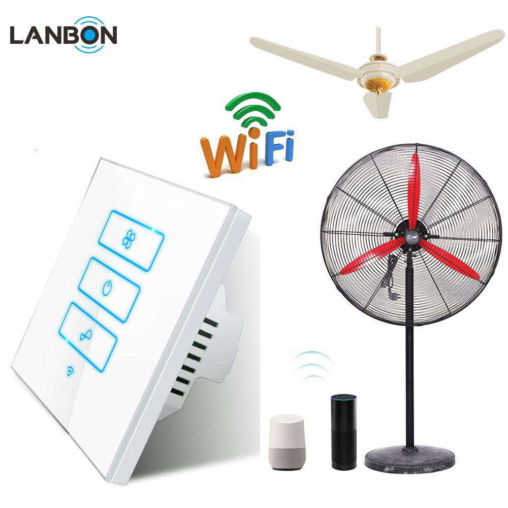Smart home touch screen wall fan smart switch wifi remote control
