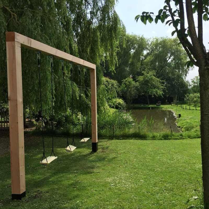 Houten Schommel Dubbel Douglas Tarzan Schommel Van Douglas Hout Swing Set Diy Backyard Playground Garden Swing
