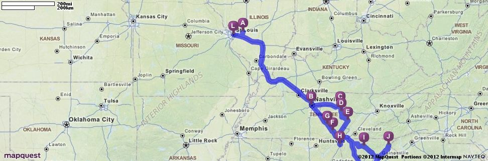 Driving Directions from 10709 Lake Rd, Highland, Illinois 62249 to ...