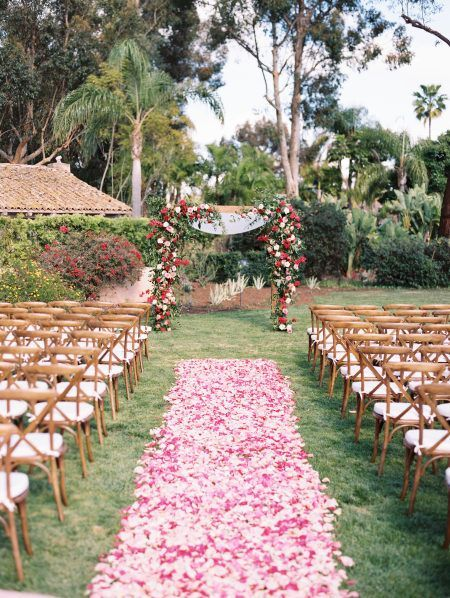 Red Done Oh-So-Right in this Rancho Valencia Resort & Spa Wedding