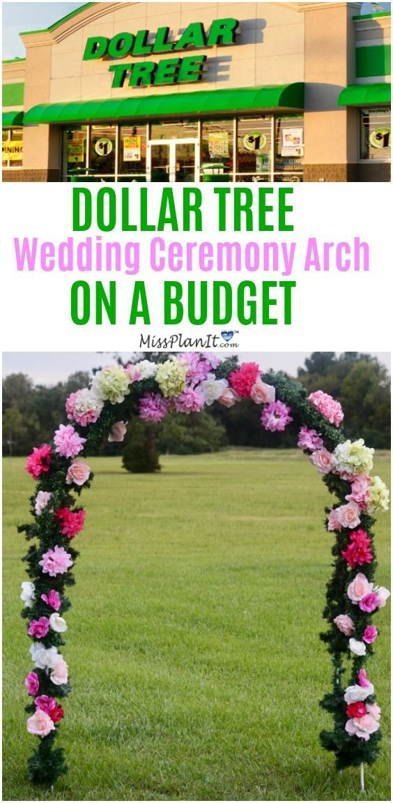 Dollar Tree Inspired: 8 Foot Wedding Ceremony Arch on a Budget