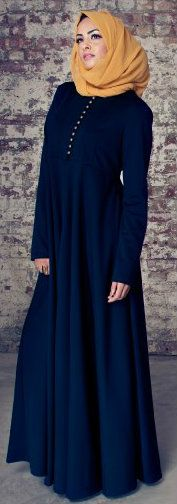 Inayah Abaya Collection. This is perfect with that hijab, I'd wear it occasionally. Simple yet beautiful   #adorethis
