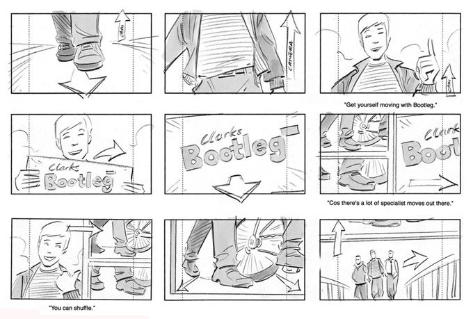 commercial storyboards - Funfpandroid