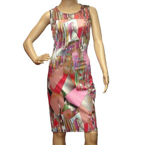 Joseph Ribkoff Women\'s New Multicolor Abstract Print Cocktail Dress ...