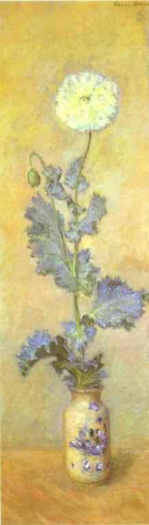 Claude Monet -White Poppy  1883, Oil on canvas, Private collection.