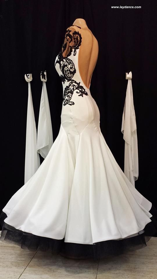 Black & White Lace Standard-you can see the way the skirt is ...
