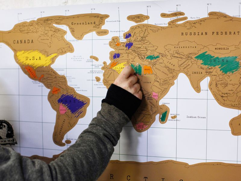 World scratch map serengetee scratch map scratch off the places youve been around the world this scratch map is the perfect accent to any travelers room gumiabroncs Image collections