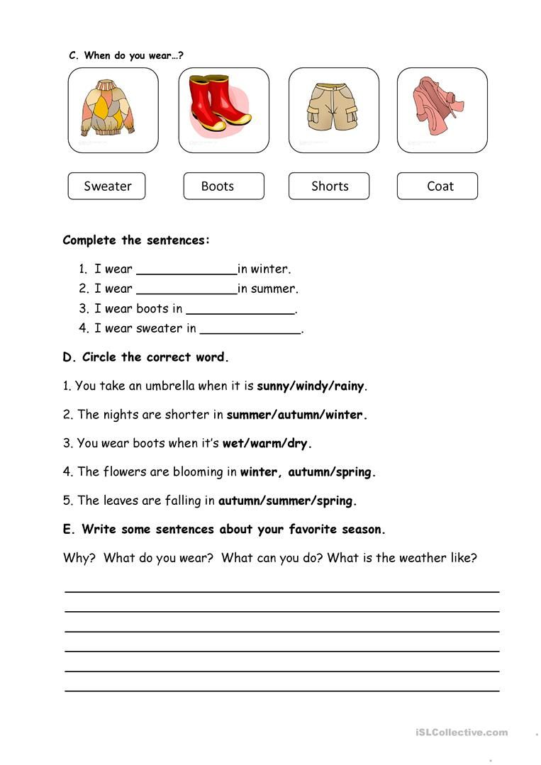 seasons and weather worksheet free esl printable worksheets made by teachers hdfc activities. Black Bedroom Furniture Sets. Home Design Ideas