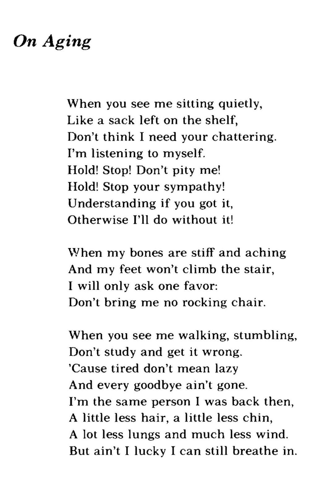 Poem Bouquet Maya Angelou