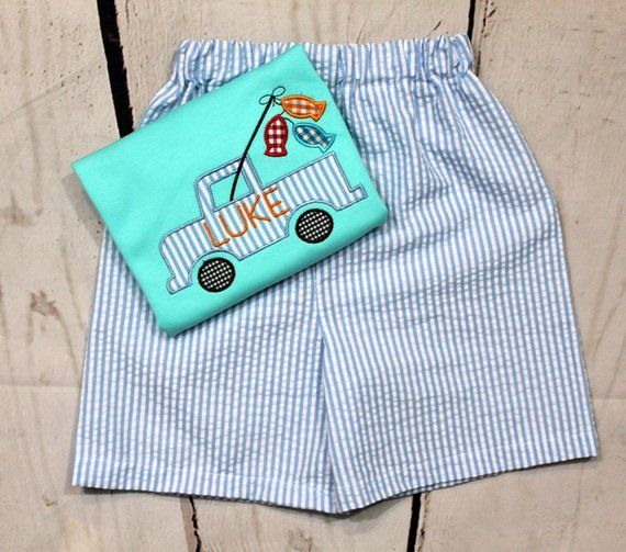 38e59dfd8 Boys Fish Shirt- Fishing Pole- Truck shirt- Toddler Boys- Fishing Shirt-  Fish Shirt- Baby Boys- Size