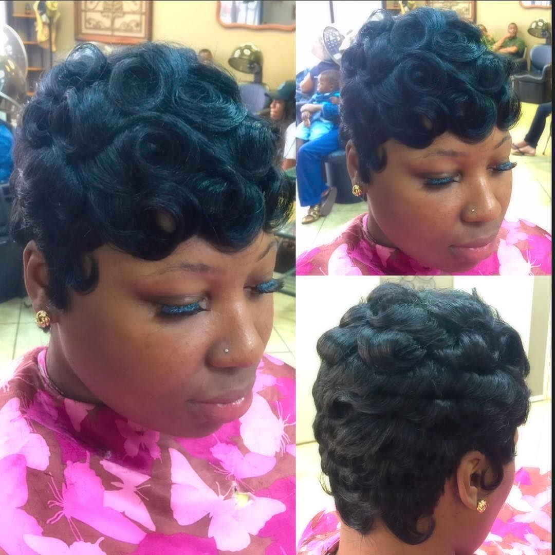 quickweave #shortstyle #pincurls by the_hairweavekillaa