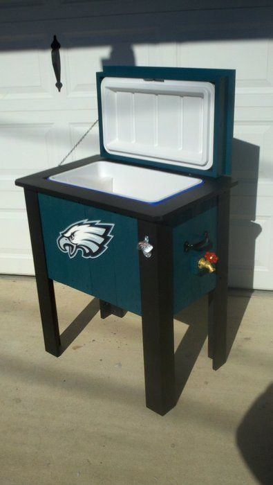 Eagles Cooler By Brent Golden Lumberjocks Com Woodworking Community Wooden Cooler Man