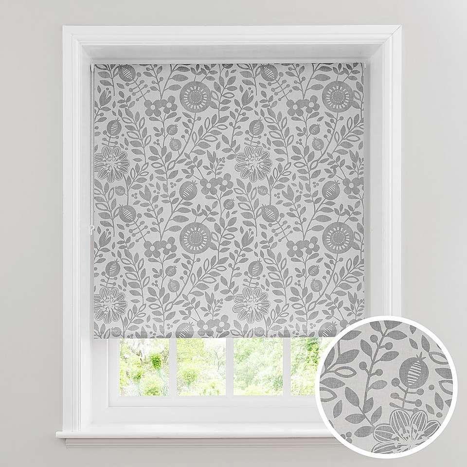 Scandi Floral Grey Daylight Roller Blind Roller blinds