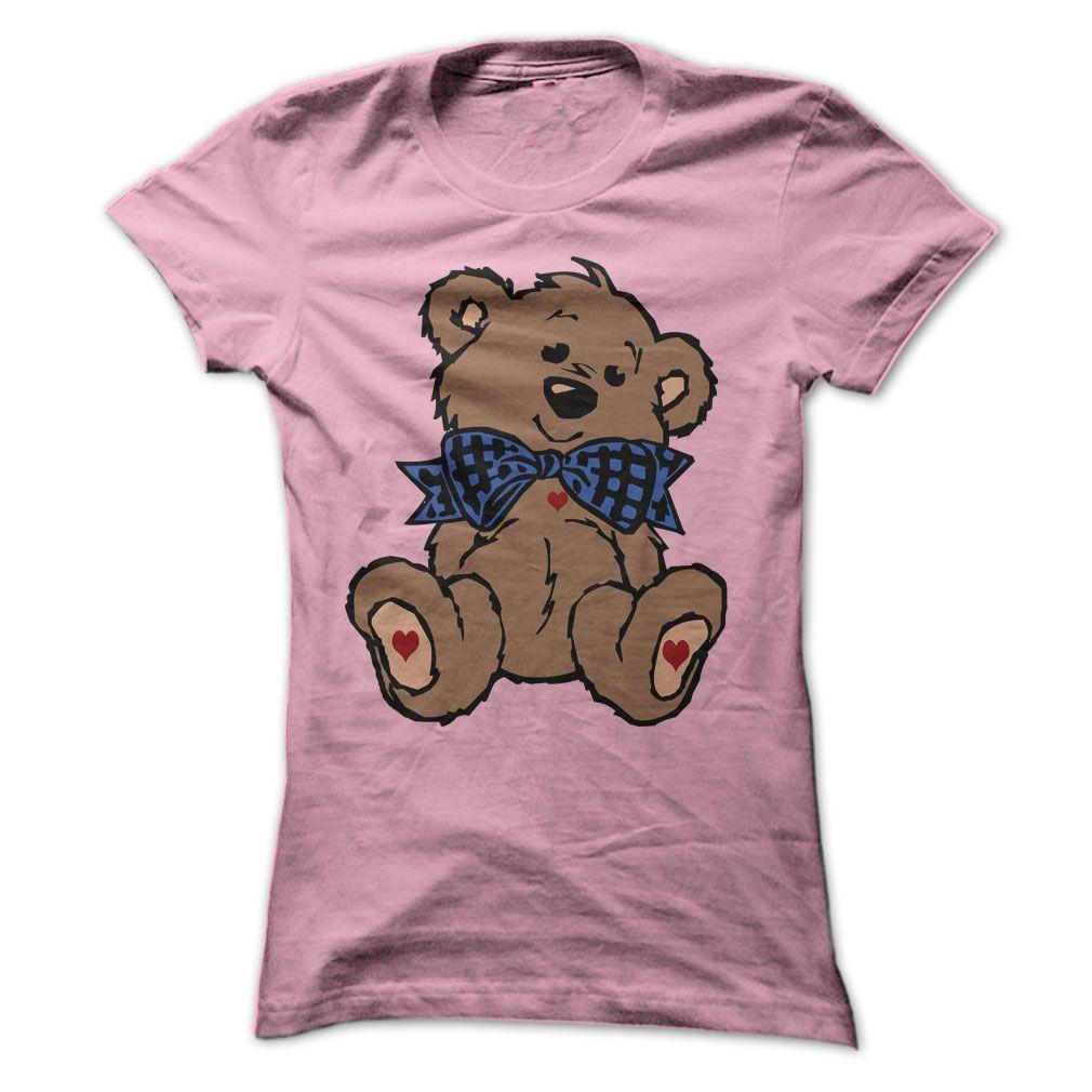 nice Bow Tie Sweetheart Brown Teddy Bear T-Shirt at ...