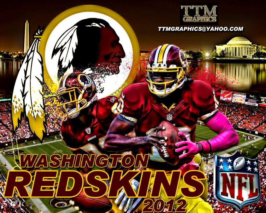 Free Washington Redskins Wallpaper Border NEW Football