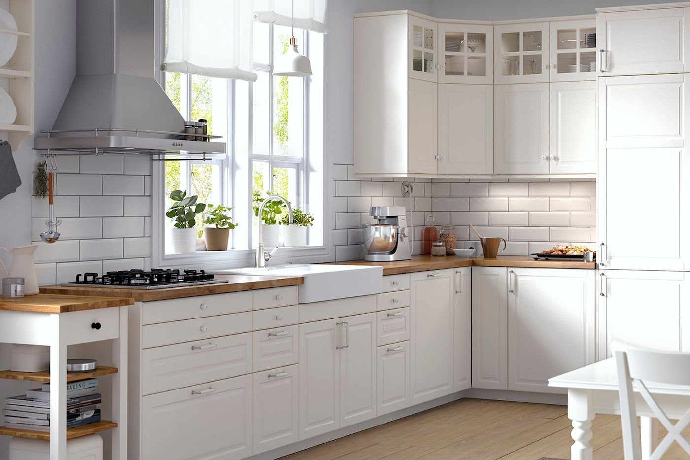 Ikea Off White Kitchen Cabinets Kök Bodbyn Off White Köksserie I Traditionell Stil