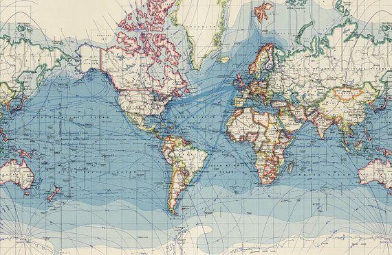 monde carte imprimable digitale carte du monde vintage vieux g ographie vintage maps map. Black Bedroom Furniture Sets. Home Design Ideas