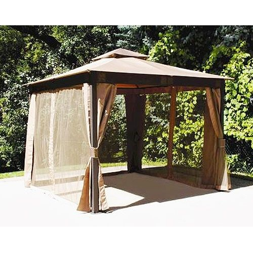 10 X 10 Square Post Gazebo Replacement Canopy And Netting Riplock 350 Gazebo Replacement Canopy Gazebo Replacement Canopy