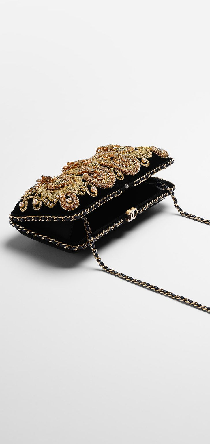 Velvet minaudiere embellished with... - CHANEL