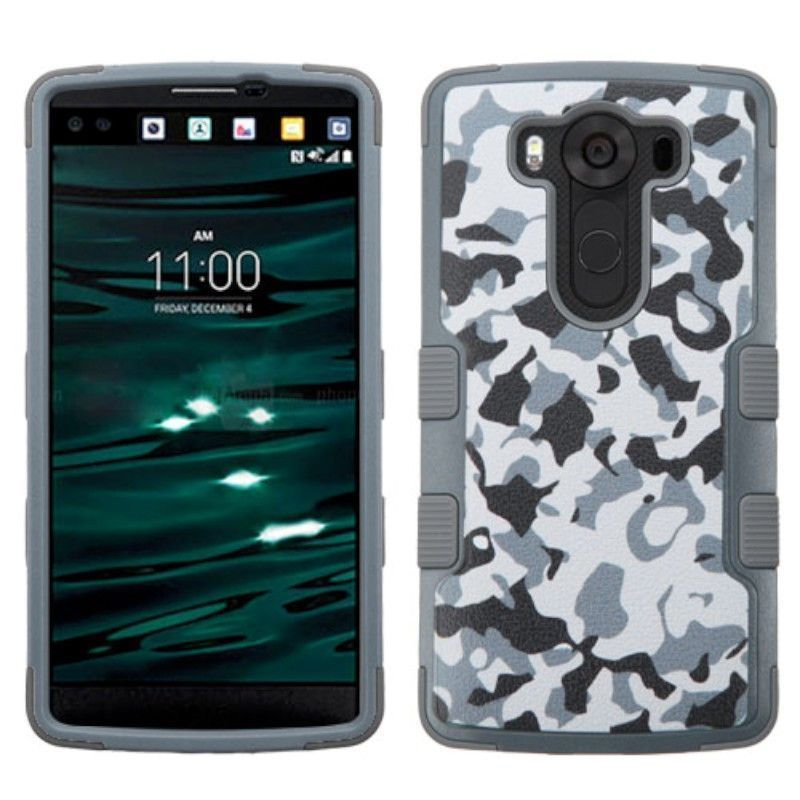 Insten Camouflage Tuff Hard PC/ Silicone Dual Layer Hybrid Rubberized Matte Case Cover for LG V10