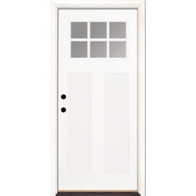 Feather River Doors 335 In X 81625 In 6 Lite Clear Craftsman