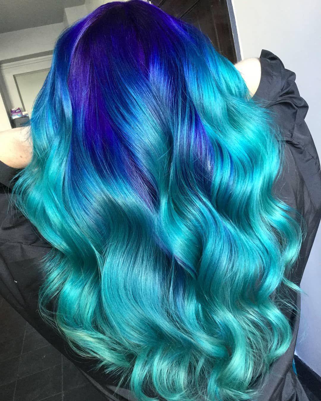Winter Waves I Used Pravana Vivids Blue Blue Topaz For