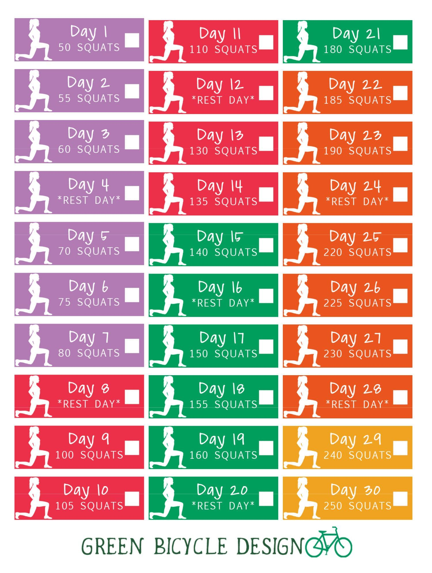 Get abs of steel with this 30-day squat challenge set of