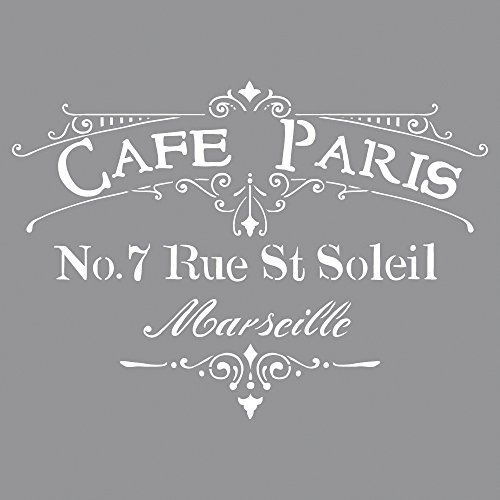RAYHER - 38904000 - Schablone Café Paris, 30,5x30,5cm, SB... https ...