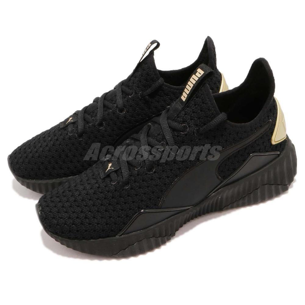 048d1fc94a0 Puma Defy Varsity Wns Selena Gomez Black Gold Women Running Shoes 191148-01