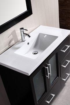 I Love This Sink Powder Room Contemporary Bathroom Vanities