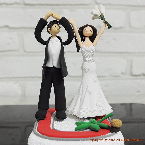 Ohio State Unv Alumni Couple Custom Wedding Cake Topper Decoration