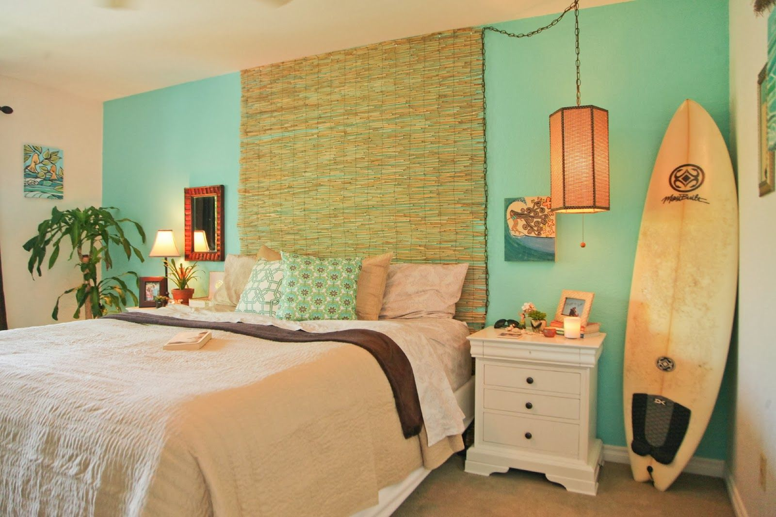 Salt water diary tropical bedroom turquoise paint beachy for Exotic bedroom decor
