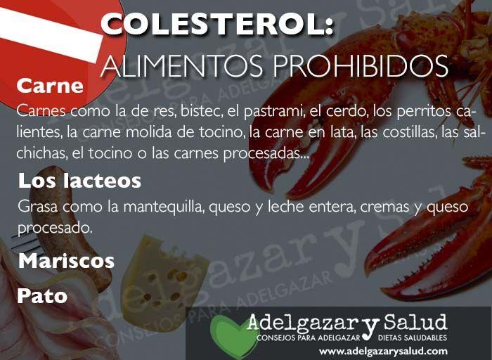 Con alto colesterol prohibidos alimentos