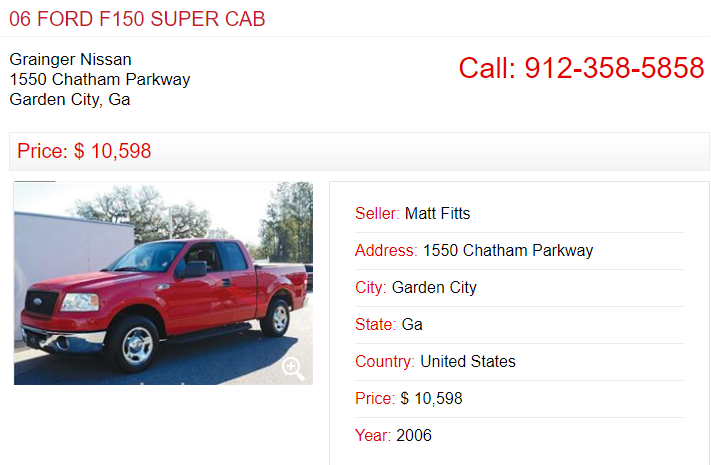 Tell-n-Sell lists 1000s of quality used cars like this 06 FORD F150 ...