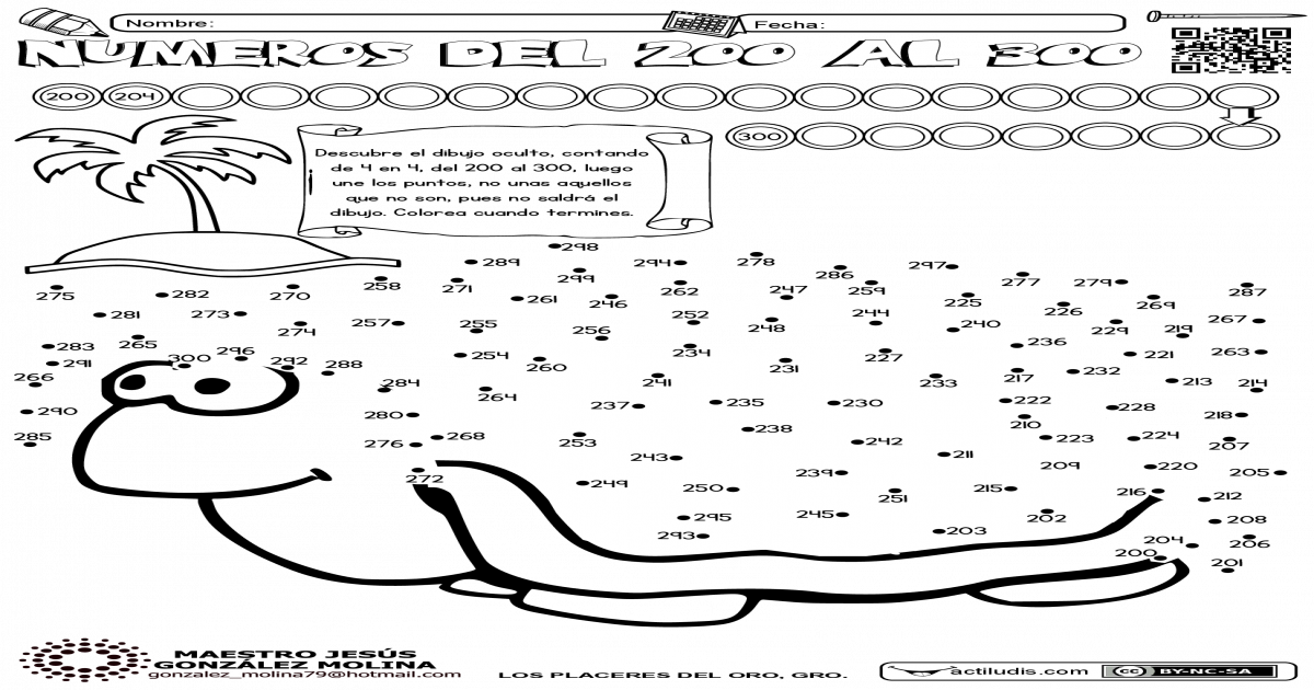 200 Al 300 Unir Puntos Juegos De Unir Puntos Actividades Escolares Maestro De Matematicas