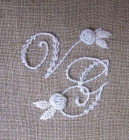 Elisabetta hand embroidery: Wedding in white ...Edwardian script