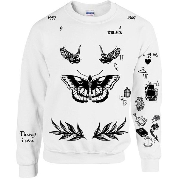 Allntrends Harry Style Sweatshirt Tattoo One Direction Shirt