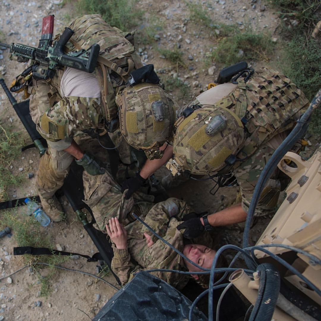 Pararescue Specialists From The 83rd Expeditionary Rescue