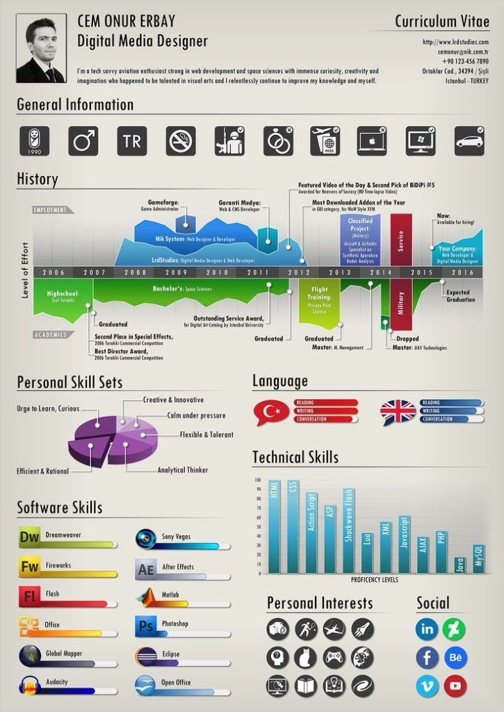 Resume infographic 2 Sides of An Infographic Resume