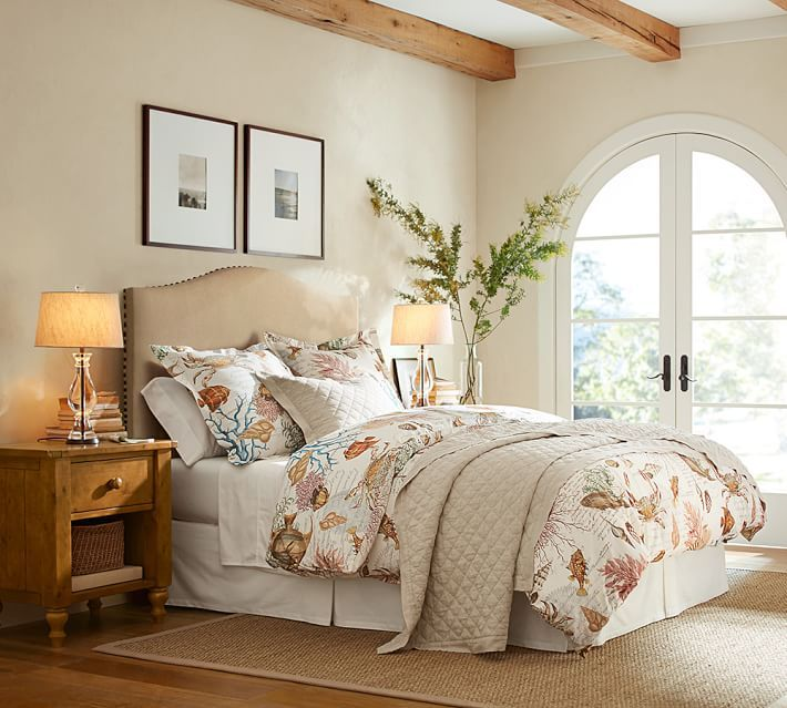 Discount Bedroom Furniture Stores: Belgian Flax Linen Diamond Quilt & Sham