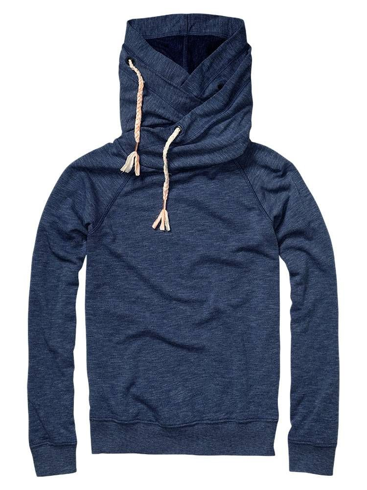 Basic lightweight summer sweat with double hood Sweaters