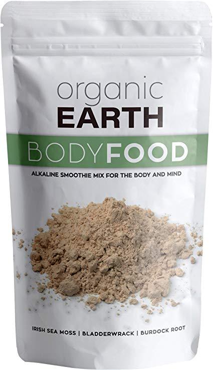 Amazon Com Organic Earth Body Cell Food 8 Ounces Irish Sea Moss Bladderwrack Burdock Root Powder Wildcrafted Alkaline Supplement 70 Sea Moss Irish Sea Food