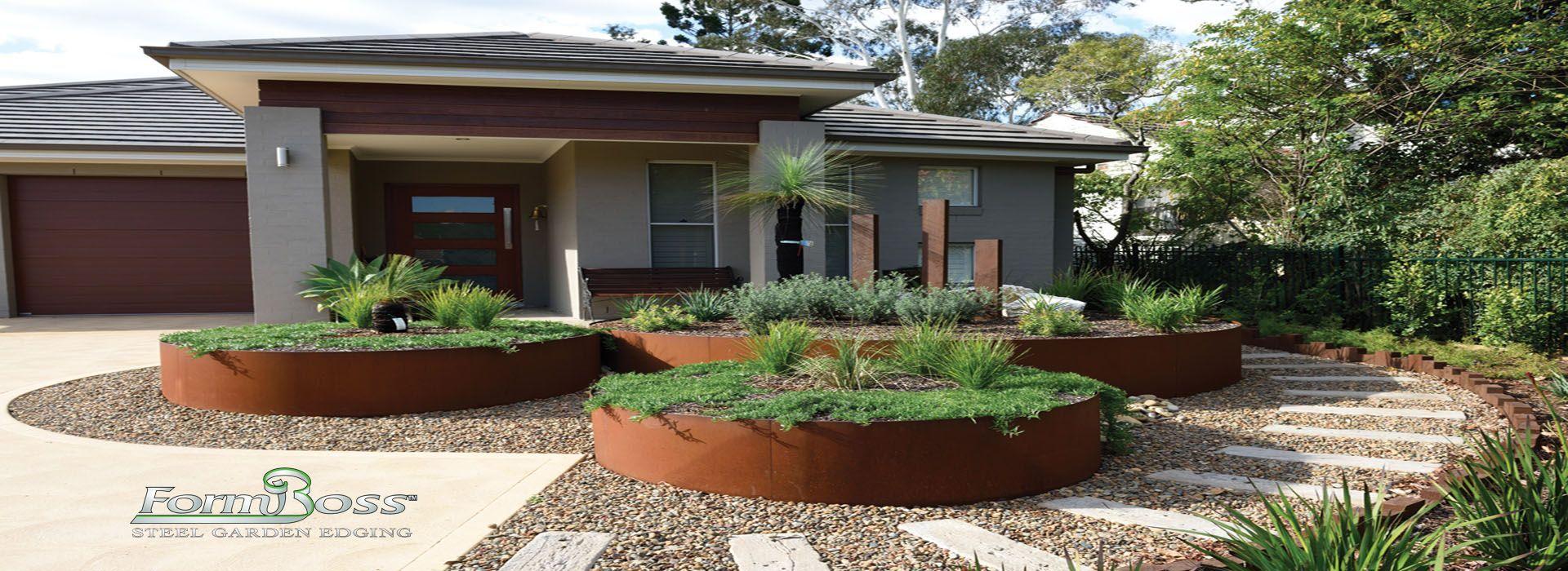 Formboss Steel Garden Edging System Melbourne Cheap Formboss Kit With Images Garden Edging Steel Garden Edging Pool Landscaping