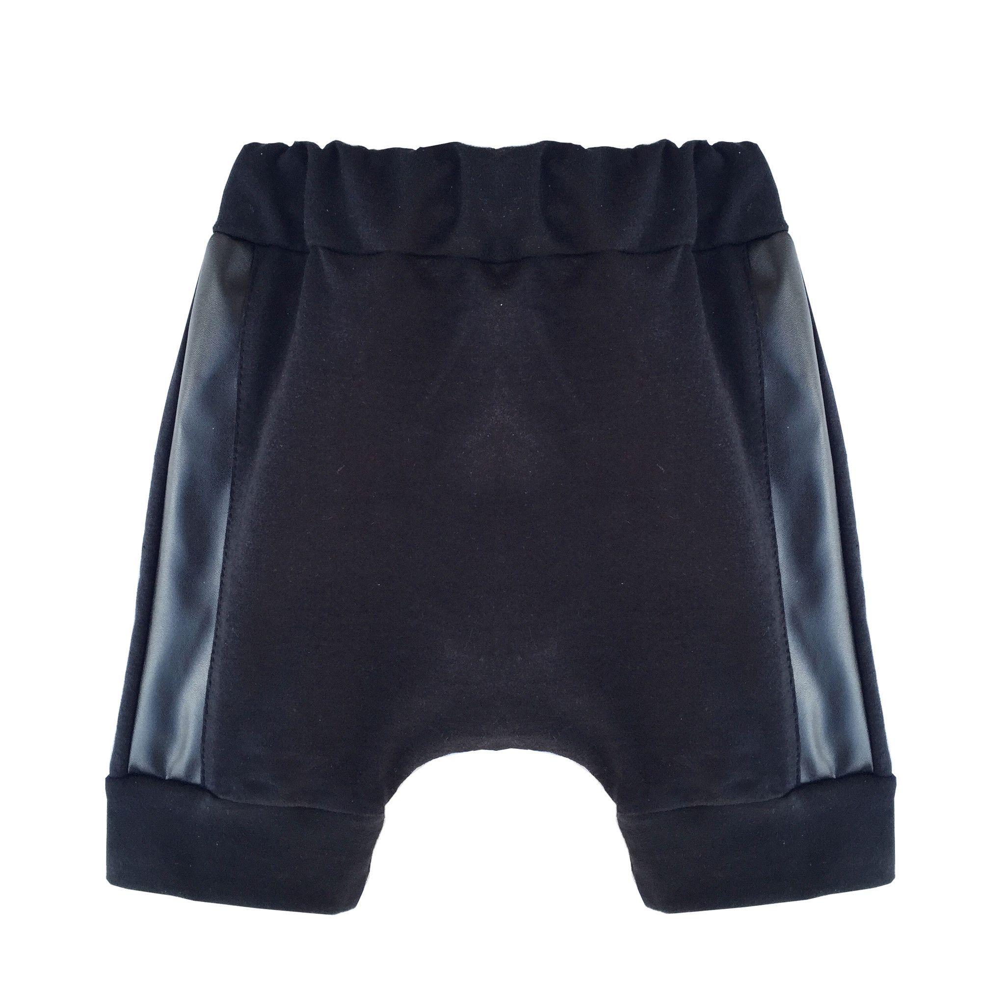 Black Jersey Harem Shorts