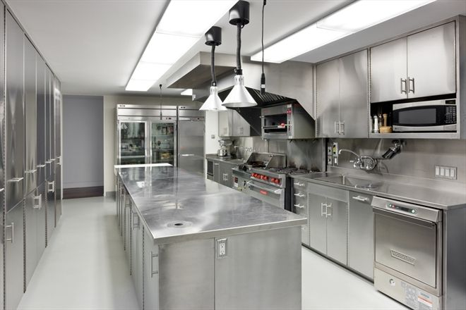 Stainless Steel Restaurant Kitchen Cabinets. Kitchen Impressive Duplex Penhouse In Tribeca
